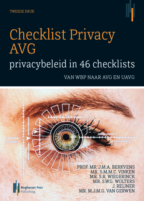 Omslag Checklist Privacy AVG: privacybeleid in 46 checklists