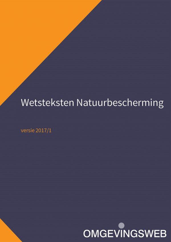 Boekomslag Wetsteksten Natuurbescherming, 2017-2