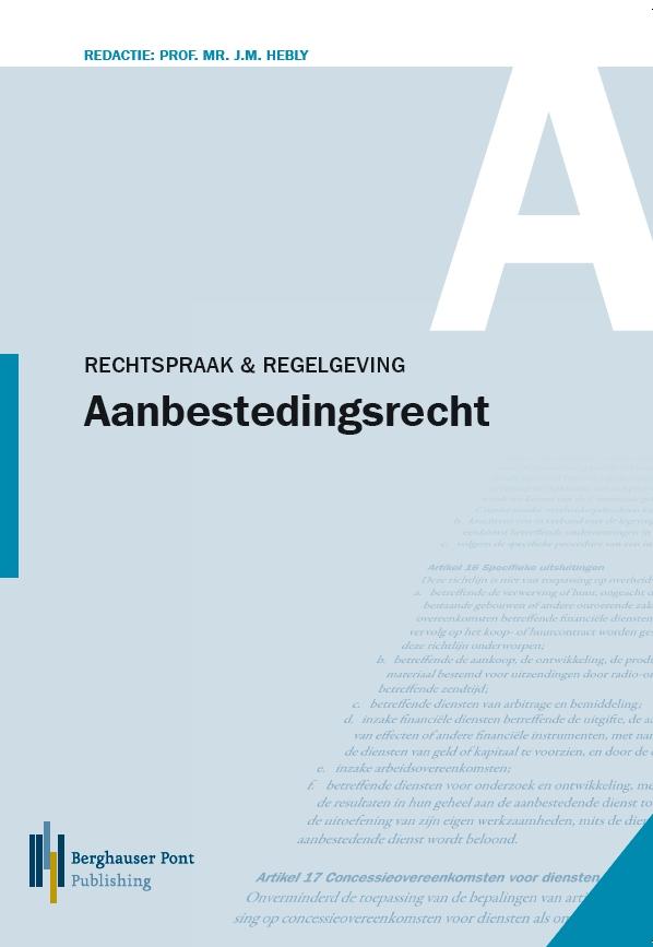 Boekomslag Rechtspraak en Regelgeving Aanbestedingsrecht 2017