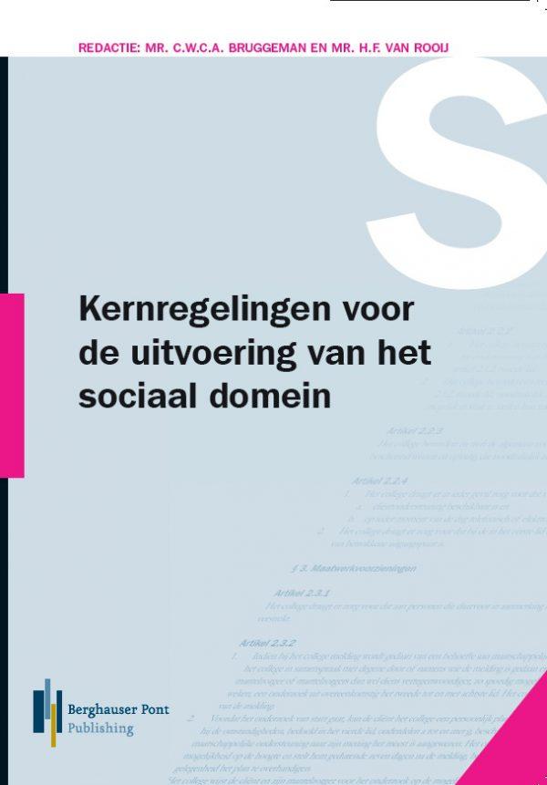 Boekomslag Kernregelingen voor de uitvoering van het sociaal domein 2019
