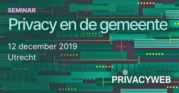 Banner seminar Privacy en gemeente