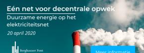 Nieuw in ons aanbod: Conferentie – Eén net voor decentrale opwek: duurzame energie op het elektriciteitsnet