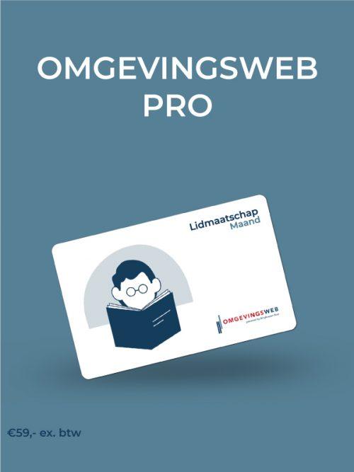 Lidmaatschap Omgevingsweb Pro