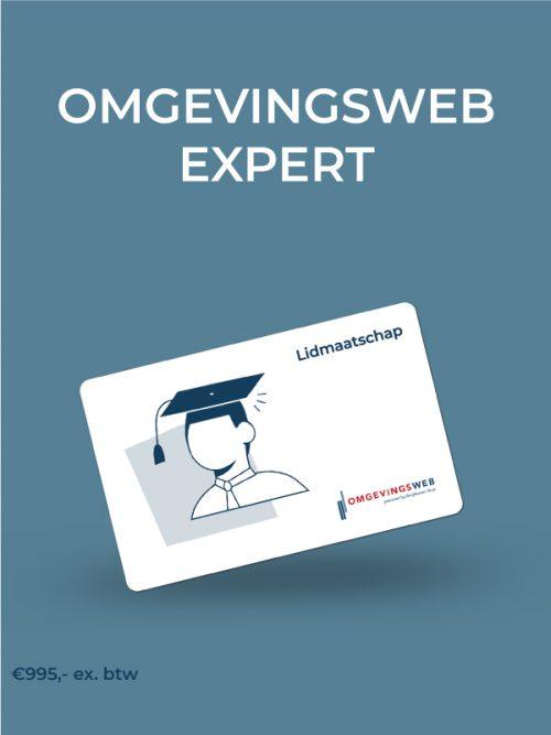 Lidmaatschap Omgevingsweb Expert