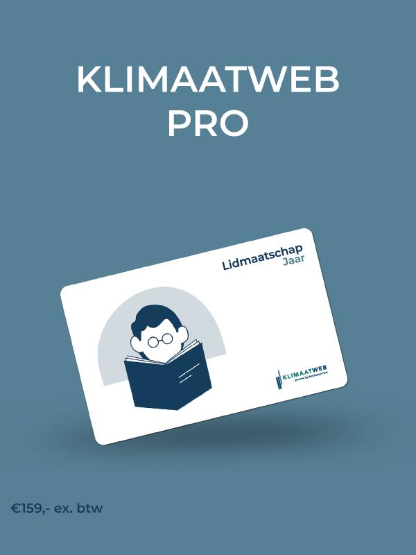 Lidmaatschap Klimaatweb Pro