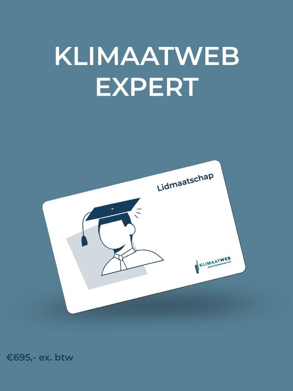 Lidmaatschap Klimaatweb Expert