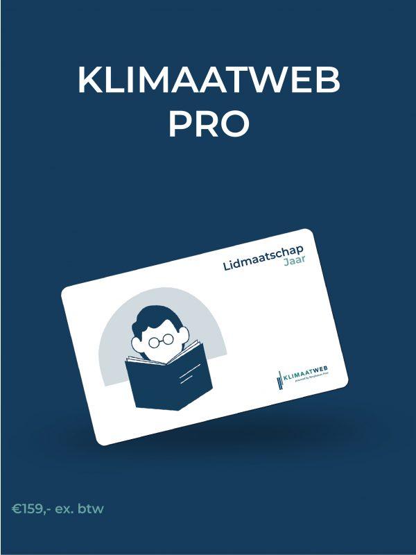 Klimaatweb Pro lidmaatschap