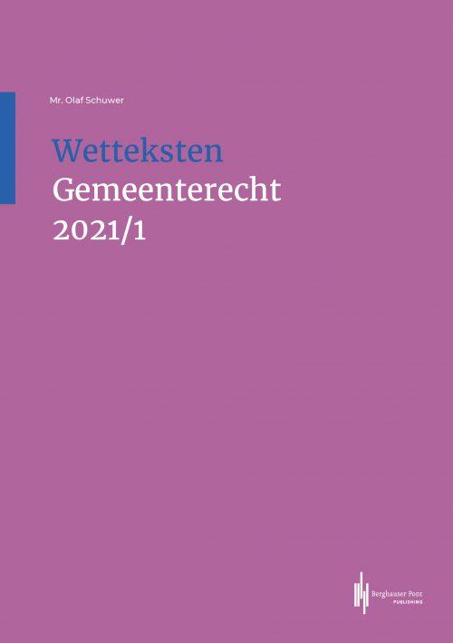 Boekomslag Wetteksten Gemeenterecht 2021/I